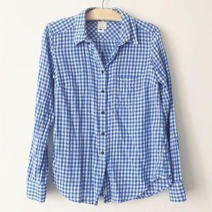 GAP Blue Gingham Button Down Shirt